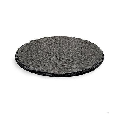 Schieferplatte rund schwarz ca D:20 cm