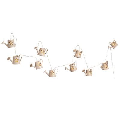 Lichterkette Gießkanne, ca L:140cm, taupe