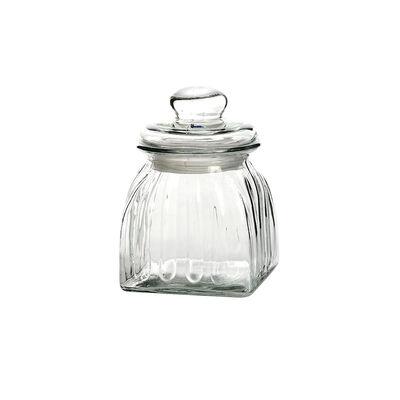 Vorratsdose eckig Glas klar ca D:10 x H:15 cm