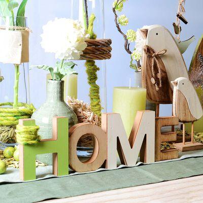 Schriftzug Home Holz hellgrün ca L:36 x T:2 x H:11 cm