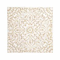 Wanddeko Ornament aus Metall, ca B:60 x L:60cm, creme
