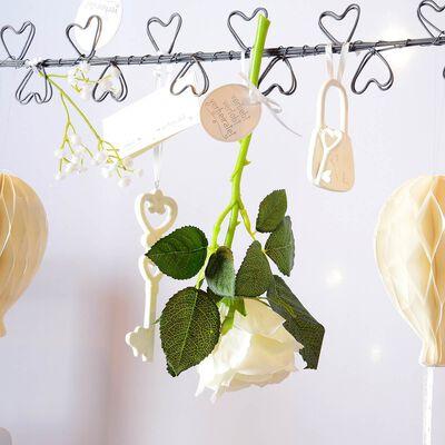 Stielblume Rose ca L:29cm, weiß