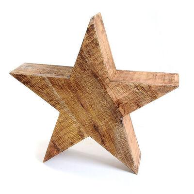 Dekoobjekt Stern Mangoholz braun ca D:60 cm