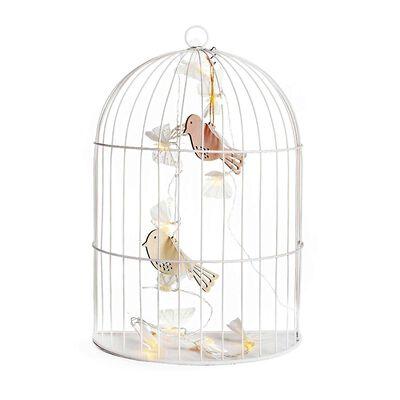 Wanddeko Vogelkäfig weiß ca L:28 x B:16 x H:40 cm