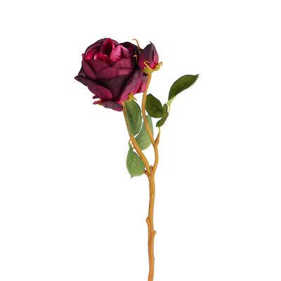 Stielblume Rose, ca L:37cm, bordeaux