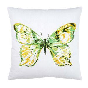 Kissen Schmetterling grün ca B:45 x L:45 cm (Kissenbezug: 100% Baumwolle)