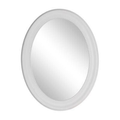Spiegel oval Paulownia-Holz weiß ca B:65 x H:85 cm