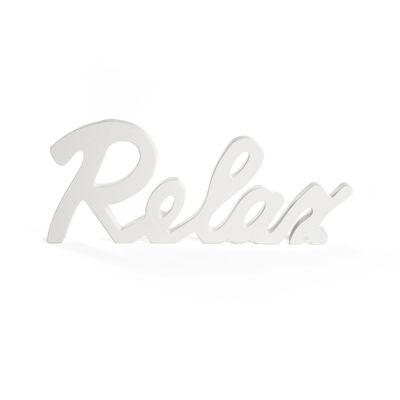Schild RELAX Holz weiß ca B:27,8 x L:11,3 cm