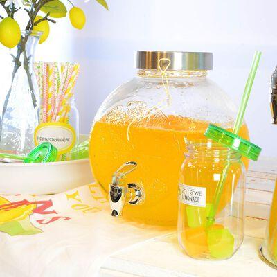 Getränkespender Zitrone Glas klar ca 4 l