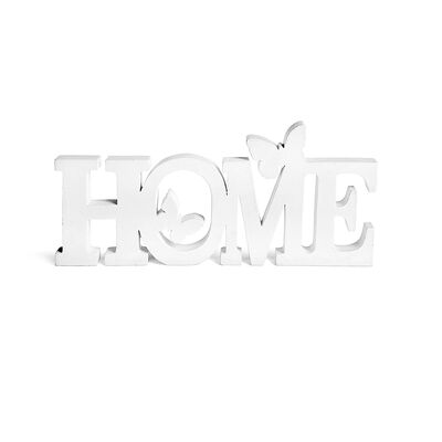 Schriftzug Home Mischholz weiß ca L:31 x B:2 x H:13,5 cm