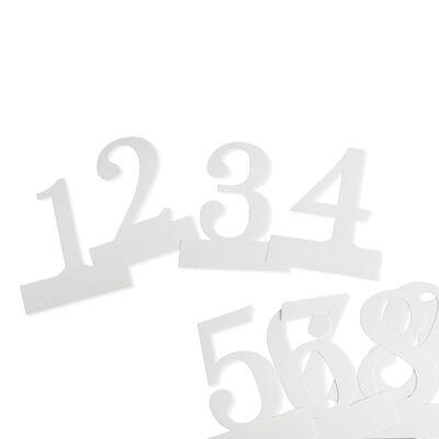 Tischnummern 12-tlg Papier weiß ca H:15 cm