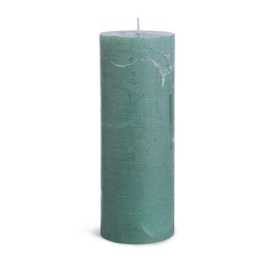Kerze Rustic mintgrün ca D:7,5 x H:20 cm