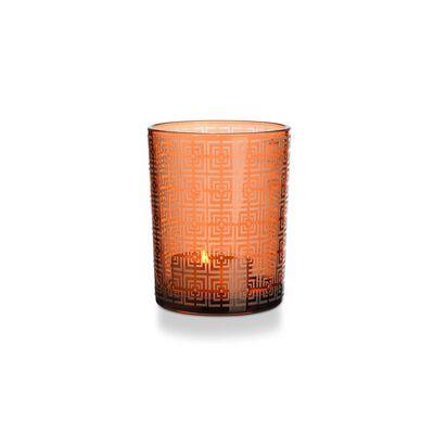Windlicht, ca D:10cm x H:12cm, orange