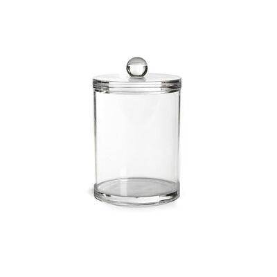 Dose mit Deckel Plexiglas klar ca D:7,5 x H:10 cm