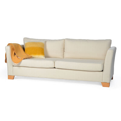 Sofa hellbeige ca B:208 x H:86 x T:86 cm (Bezüge: 100% Polyester)