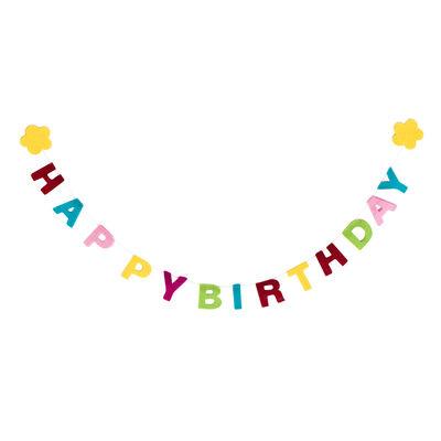 Filzgirlande Happy Birthday Filz bunt ca.90 cm