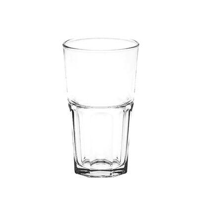 Glasbecher GROOVE Glas klar ca 390 ml