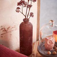 Vase, ca D:11cm x H:33cm, beere dunkel