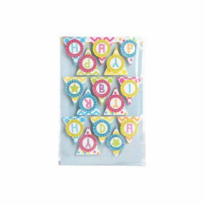 Sticker Wimpel 15er-Set bunt