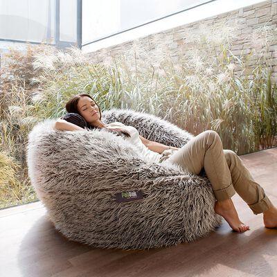 Sitzsack FATSAK XL Flokati grau ca D:110 x H:70cm (98% Polyester, 2% andere)