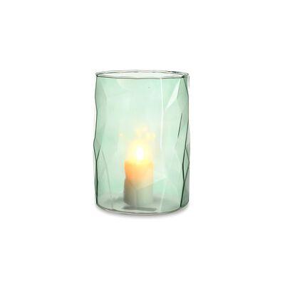 Windlicht Glas mintgrün ca D:12,5 x H:17,5 cm