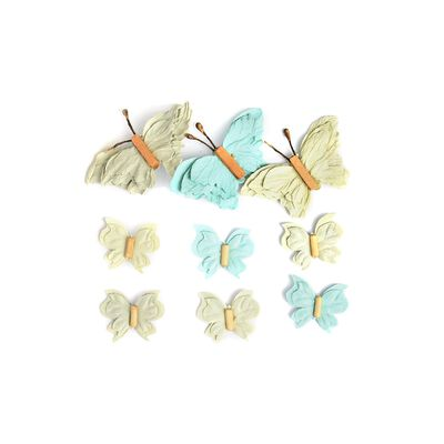 Sticker Schmetterling 3D 9er-Set grün