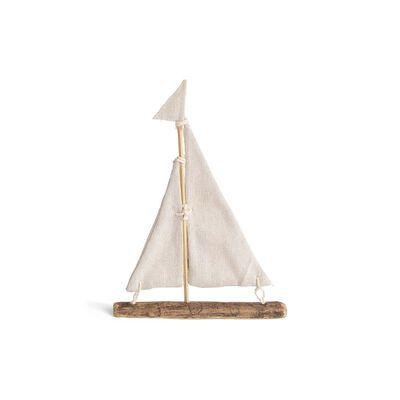 Deko-Segelschiff, ca 15x21cm, natur