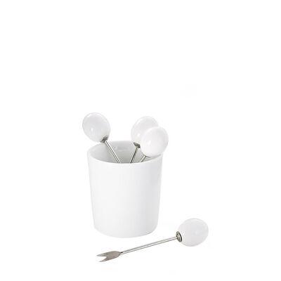 Olivenpicker 6 Stück im Behälter ca D:5 x H:9cm