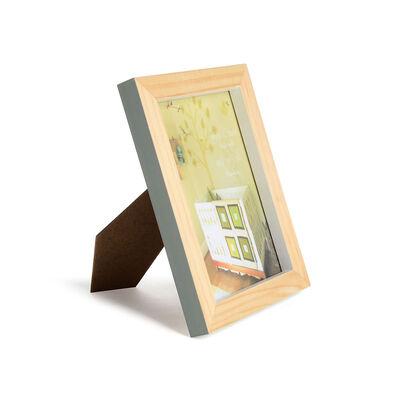Bilderrahmen Pinienholz grau-grün 10x15 cm