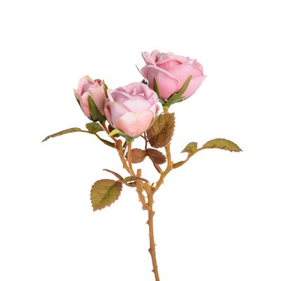 Stielblume Rose 3 Blüten altrosa ca L:21 cm