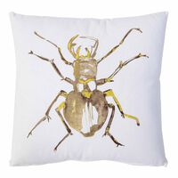 Kissen Insekt weiß/braun ca B:45 x L:45 cm (Kissenbezug: 100% Baumwolle)