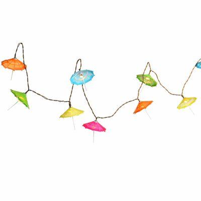 Solarlichterkette Schirmchen 10 LED, ca L:180cm, bunt