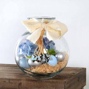 Set osterlich dekorierte Vase