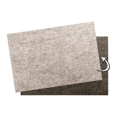 Platzset zum Wenden hellgrau/dunkelgrau ca B:30 x L:45 cm (100% Polyester)