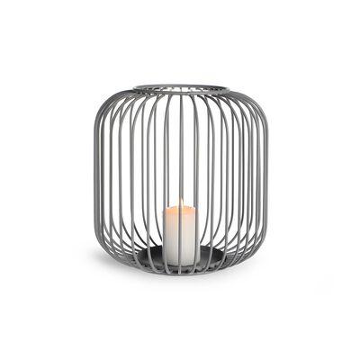 Windlicht Metall grau ca D:18 x H:18,5 cm