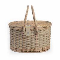 Picknickkorb für zwei Personen. 13-teilig ca L:42 x B:30 x H:25cm, natur