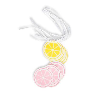 Anhänger Zitrone 12 Stk, bunt