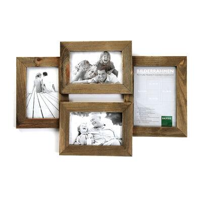 Bilderrahmen für 4 Fotos Holz braun 10x15 cm / 13x18 cm