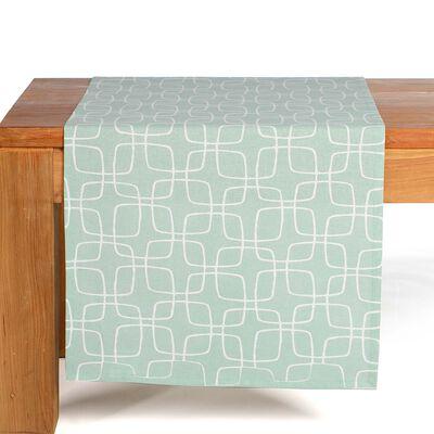 Tischläufer Grafik mintgrün ca B:40 x L:150 cm (100% Baumwolle)