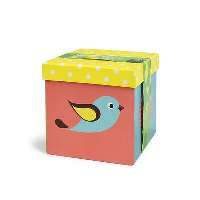 Box Eulen 3er Set bunt ca L:12 x B:12 x H:12 cm