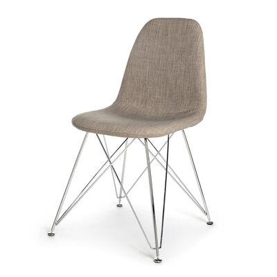 Stuhl Paris Mischholz taupe ca B:45 x H:88 x T:45 cm (Bezüge: 90% Polyester, 10% Polyvinylchlorid)