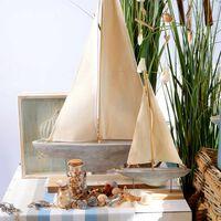 Dekoobjekt Segelschiff ca H:47cm, creme