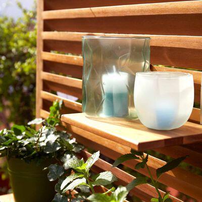 Windlicht Glas hellgrau ca D:10 x H:12 cm