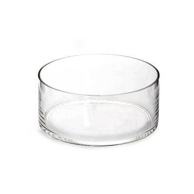 Schwimmschale rund Glas klar ca D:21 x H:9 cm