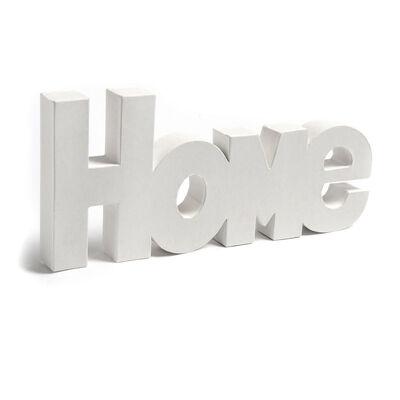 Schriftzug Home Pappe weiß ca L:35 x B:16 cm
