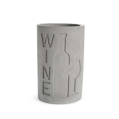 Weinkühler Zement grau ca D:14 x H:22 cm