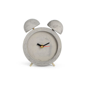 Uhr Zement hellgrau ca D:13 x H:16,5 cm