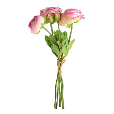 Ranunkelbündel 5er-Set pink ca L:32 cm