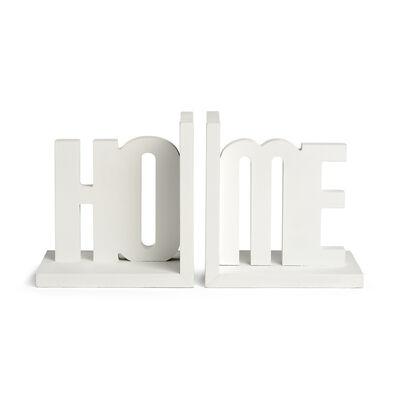 Buchstützen Home Holz weiß ca H:21 cm