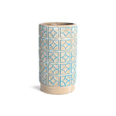 Vase Orient, ca D:13cm x H:22cm, türkis